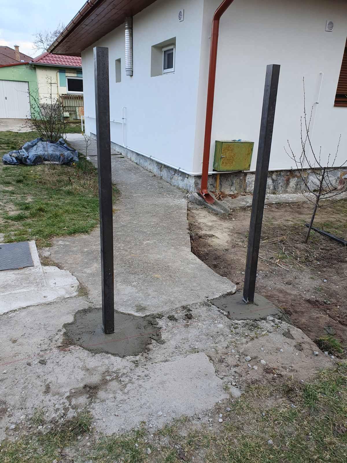 Agárd kerítés építés T8 ból és lemez pálcából