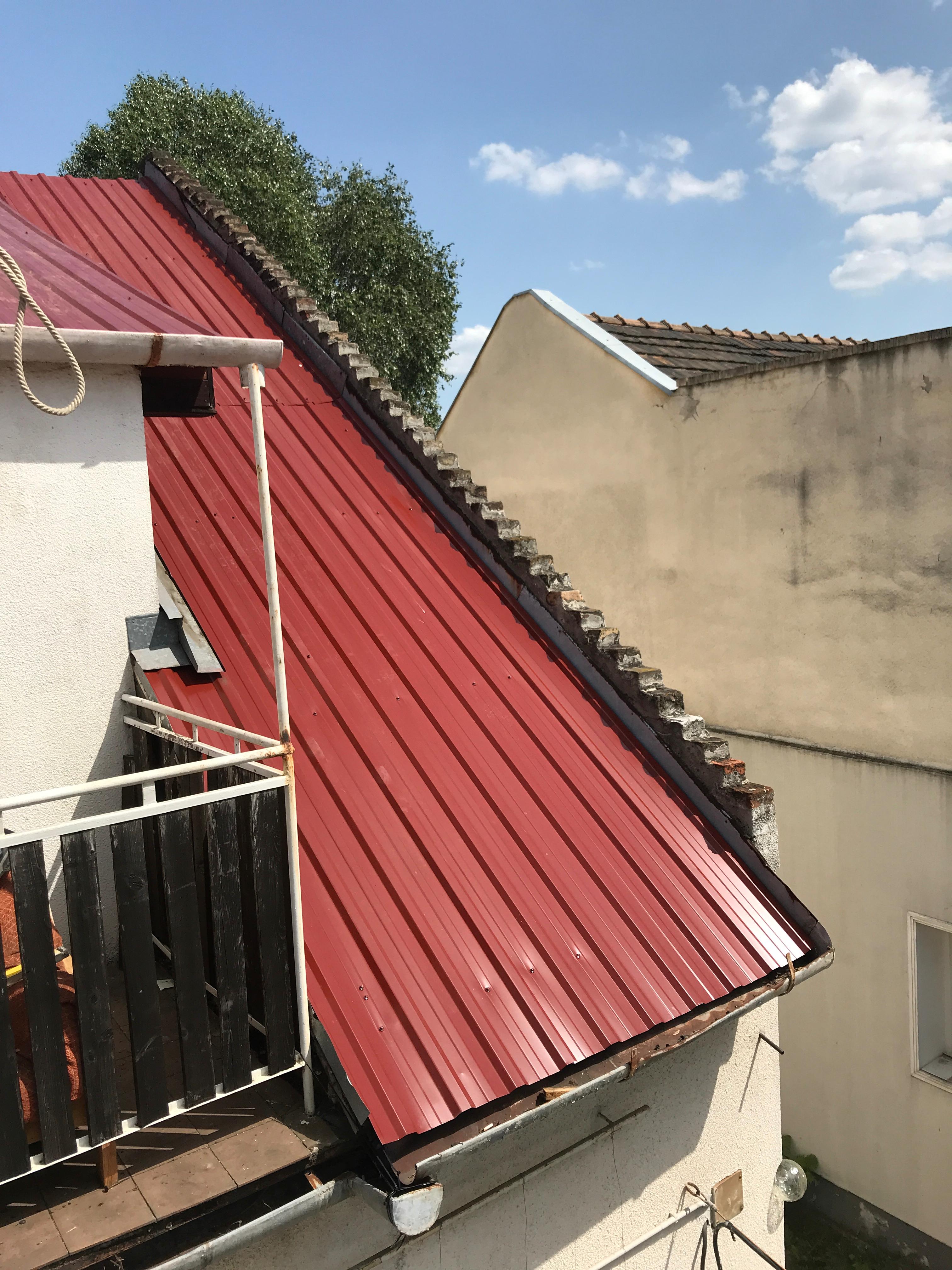 Bp IV.ker tető építés