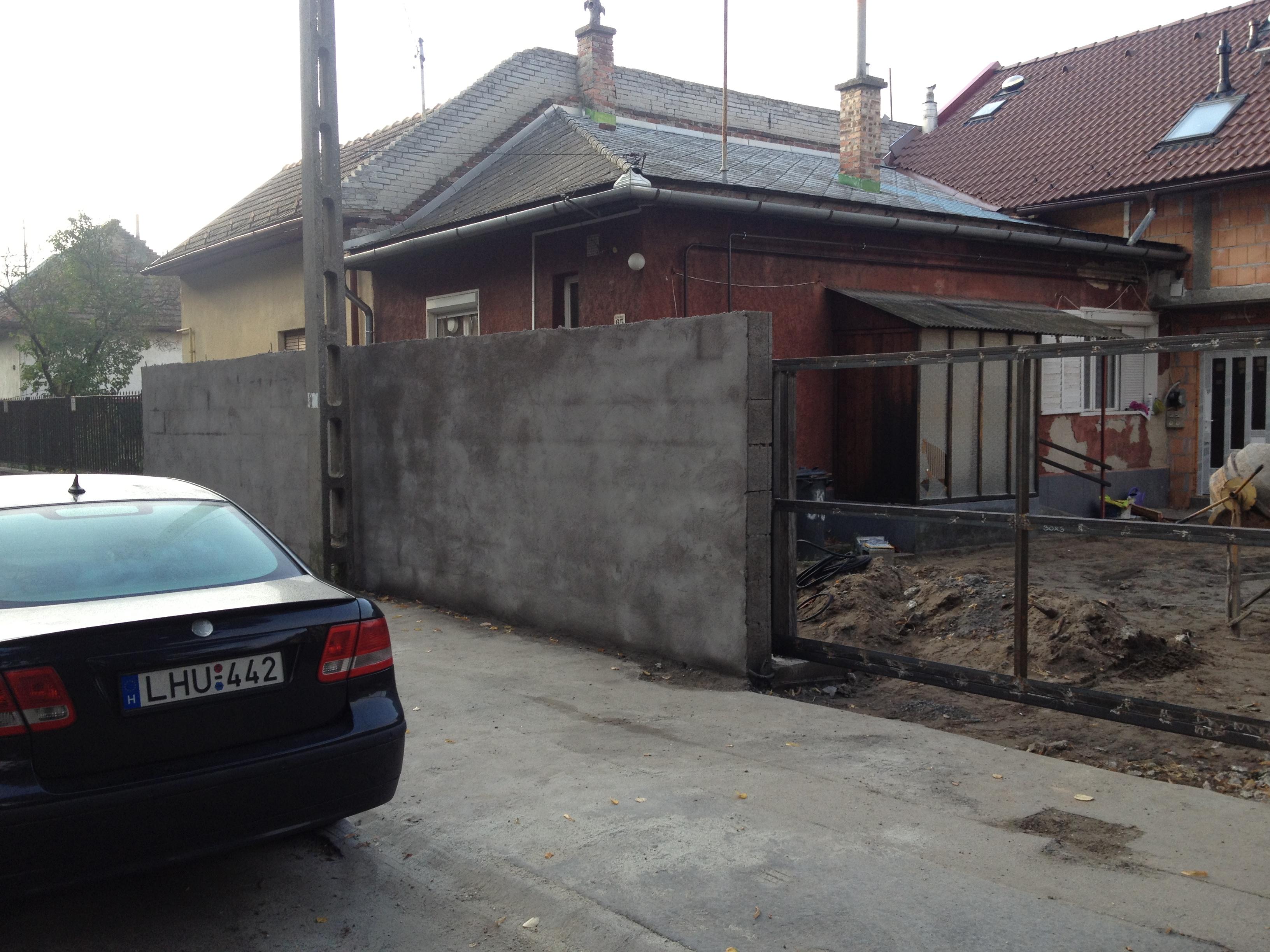 Bp IV.ker zsalukővel kerítés építés