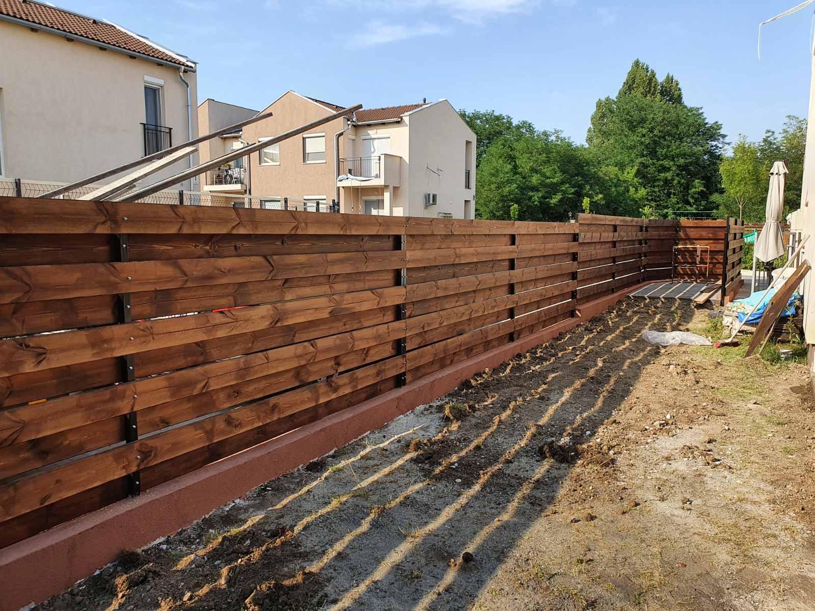 Bp XVI Levedi ker fa és zsalukő kerítés építés