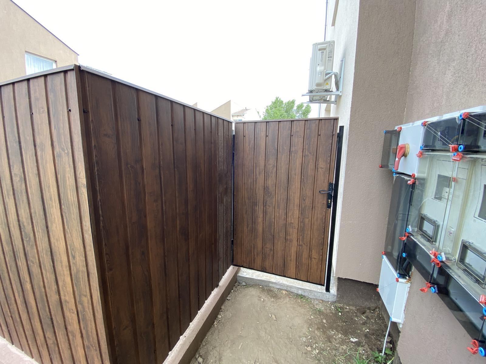 Bp XVI ker trapézlemez és zsalukő kerítés építés