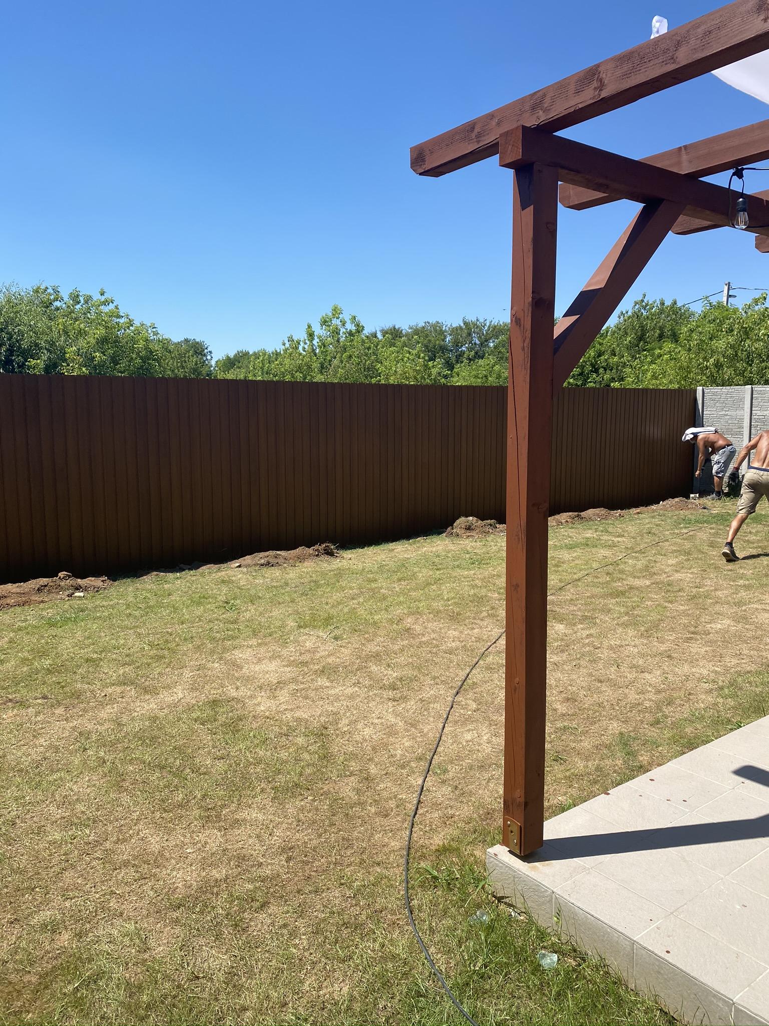 Nagytarcsa trapézlemez kerítés építés